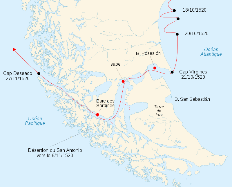 Strait of Magellans discovery 1520